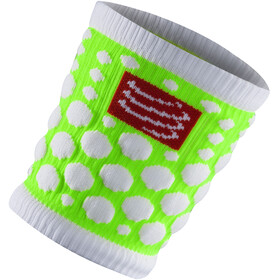 Compressport 3D Dots Opaska na nadgarstek, fluo green